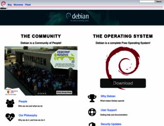 debian.com screenshot