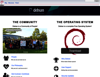 debian.org screenshot