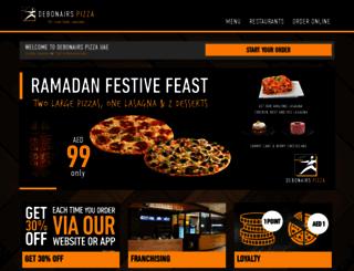 debonairspizza.ae screenshot