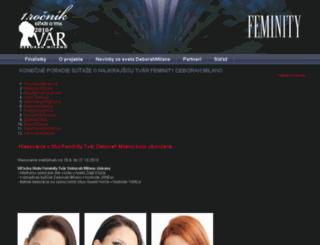 deborahmilano.feminity.sk screenshot