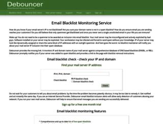 debouncer.com screenshot