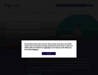 debra.org.uk screenshot