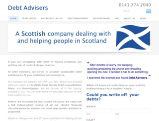 debt-advisers.com screenshot