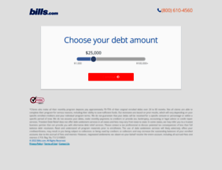 debt.bills.com screenshot