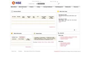 debt.nseindia.com screenshot