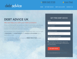 debtadvice.co.uk screenshot