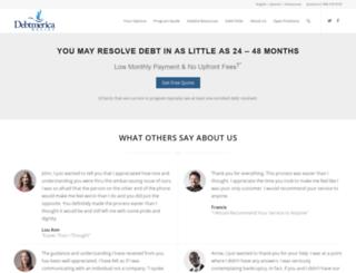 debtamerica.com screenshot