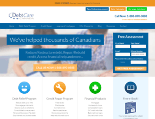 debtcare.ca screenshot
