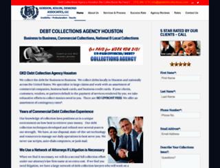 debtcollectionsagencyhouston.com screenshot