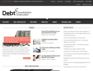 debtconsolidationunsecured.com screenshot