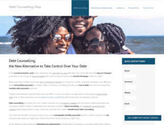 debtcounsellinghelp.co.za screenshot