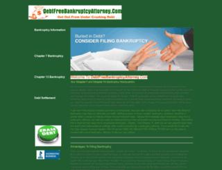 debtfreebankruptcyattorney.com screenshot