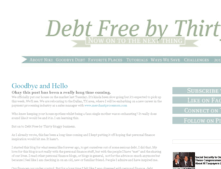 debtfreebythirty.net screenshot