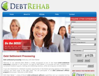 debtsettlementprocessors.com screenshot