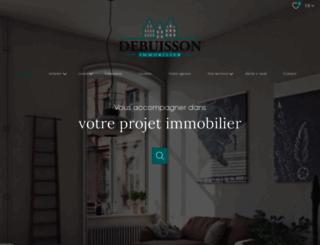 debuissonimmobilier.fr screenshot