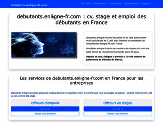 debutants.enligne-fr.com screenshot