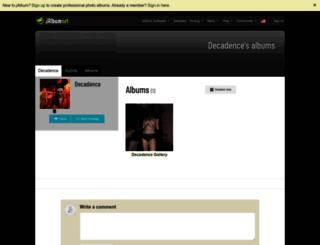 decadence.jalbum.net screenshot