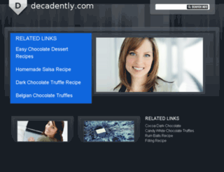 decadently.com screenshot