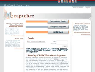 decaptcher.com screenshot