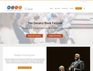 decaturbookfestival.com screenshot