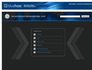 decemberprintablecalendar.com screenshot