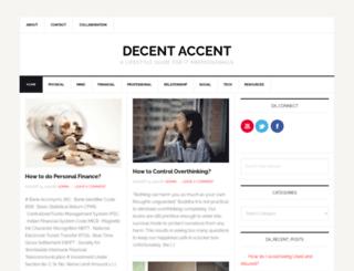 decentaccent.com screenshot