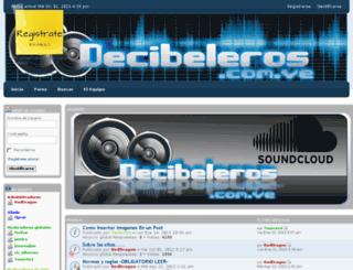 decibeleros.com.ve screenshot