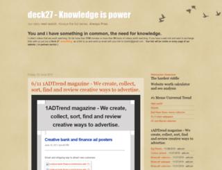 deck27.blogspot.com screenshot