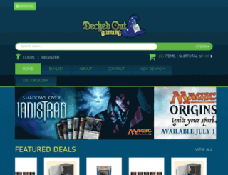 deckedoutgaming.crystalcommerce.com screenshot
