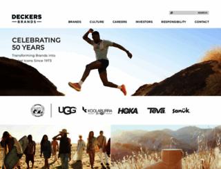 deckers.com screenshot