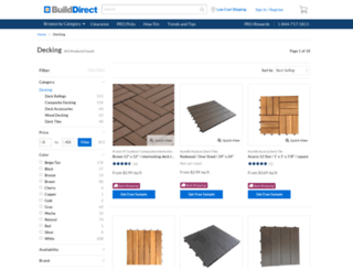 decking.builddirect.com screenshot