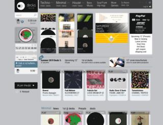decks-records.com screenshot