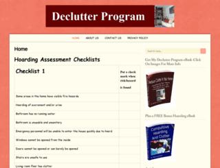 declutterprogram.com screenshot