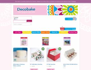 decobake.com screenshot