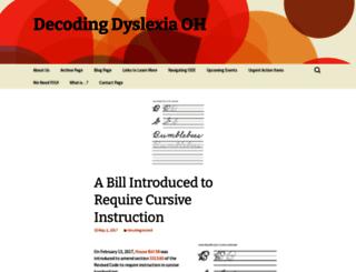 decodingdyslexiaoh.org screenshot