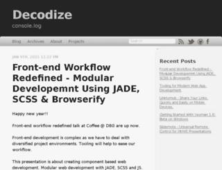 decodize.com screenshot