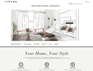 decoratorsmarket.com.au screenshot