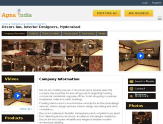 decorsinn-hyderabad.apnaindia.com screenshot