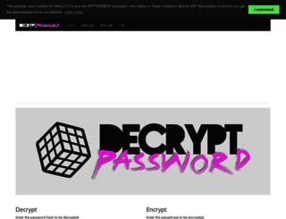 decryptpassword.com screenshot