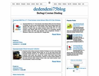 dedendeni75.blogspot.com screenshot