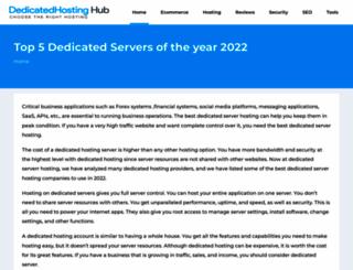 dedicatedhostinghub.com screenshot