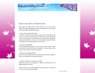 dedicatedhostingservicez.blogspot.com screenshot