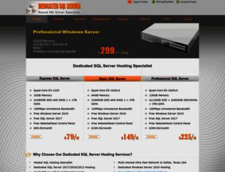 dedicatedsqlserver.com screenshot