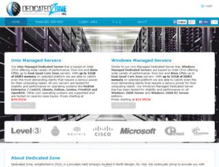 dedicatedzone.com screenshot
