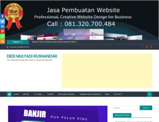 dedimulyadir.com screenshot