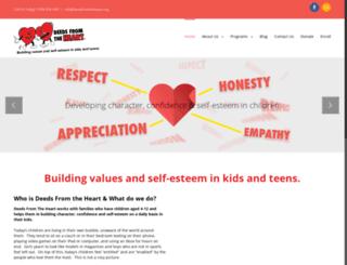 deedsfromtheheart.org screenshot