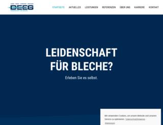 deeg-bleche.de screenshot