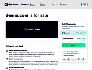 deena.com screenshot