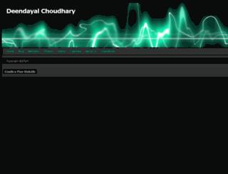 deendayalchoudhary.webs.com screenshot