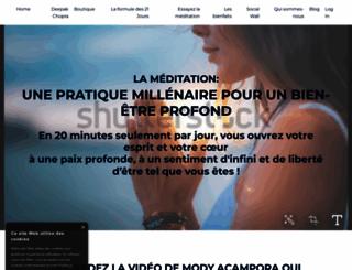 deepakchoprameditation.fr screenshot